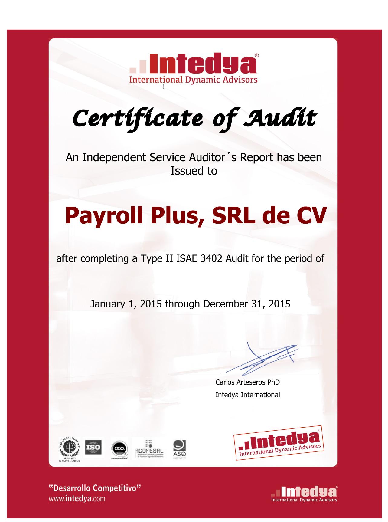 Compliance – Payroll Plus MX